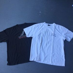 Black and white Nautica shirt bundle